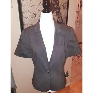 SMART SET Short Sleeve Blazer